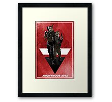 Anonymous 2012  Framed Print
