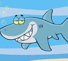 Happy Blue Shark by ChudTsankov