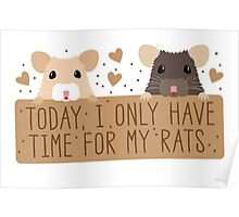 Today, I only have time for my RATS Poster