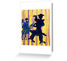 Couples dancing, watercolor Greeting Card