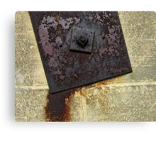 Metal Plate and Wall Canvas Print