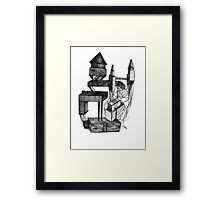 Ink drawing on 8 by 10 inch watercolor paper, also comes in p Framed Print
