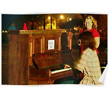 Piano Al Fresco Poster