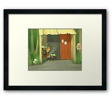 The Buss Stop Framed Print