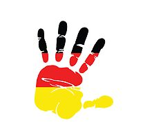 Hand print of flag of Germany by nadil