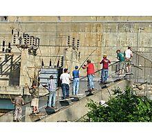 Fishing At Eufaula Dam (Oklahoma) Photographic Print