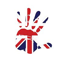 Hand print of flag of Great britain by nadil