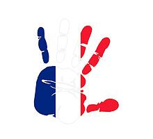 Hand print of flag of France by nadil