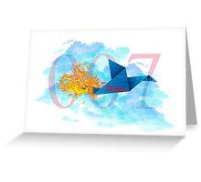 007 Top secret moder stylis desing Greeting Card