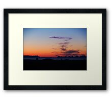 Morning is Just a Breath Away Framed Print