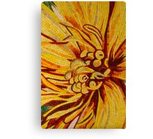 Mesmerizing Golds and Yellows - a Floral Ceramic Tile Mosaic Canvas Print