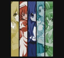 higurashi when they cry rika rena satoko mion shion anime manga shirt by ToDum2Lov3