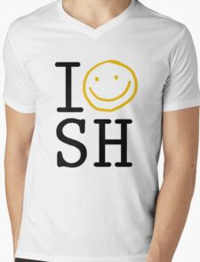 I LOVE SH Mens V-Neck T-Shirt