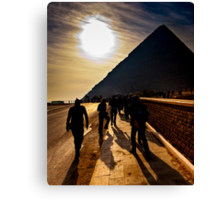 Footsteps of the Ancients - The Great Pyramid Canvas Print