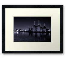 Battersea Power station Black and white Framed Print