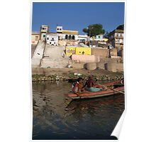 Two Men in a Boat by Nishradraj Ghat Poster