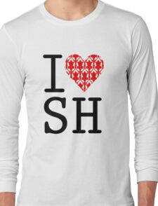 I LOVE SH (Red) Long Sleeve T-Shirt