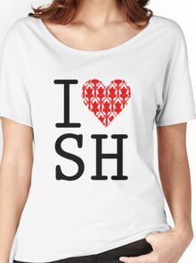I LOVE SH (Red) Women's Relaxed Fit T-Shirt
