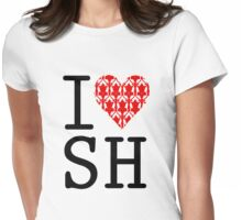 I LOVE SH (Red) Womens Fitted T-Shirt