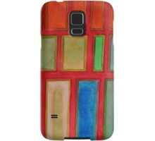 Some Chosen Rectangles orderly on Red Samsung Galaxy Case/Skin