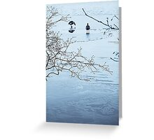 Geese on Ice Greeting Card
