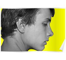 Black and White on Yellow Poster