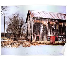 Winter Midwest Barn  Poster