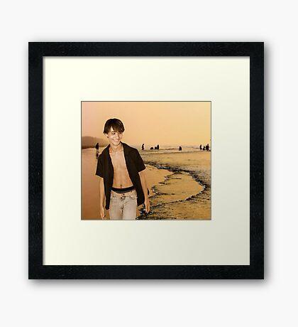 Beach Walking Framed Print