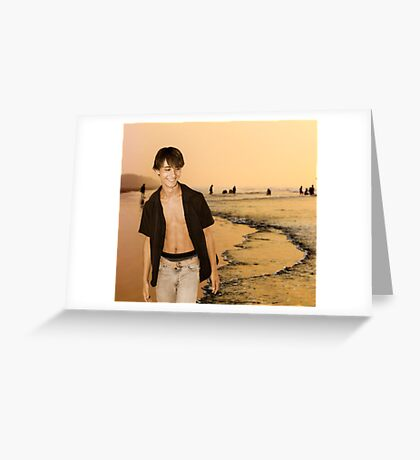 Beach Walking Greeting Card