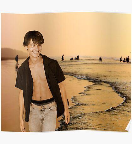 Beach Walking Poster