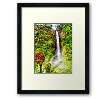 Waterfall - Digital Art Painting Framed Print