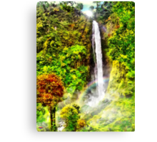 Waterfall - Digital Art Painting Canvas Print