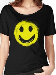 grunge smiley face Women's Relaxed Fit T-Shirt