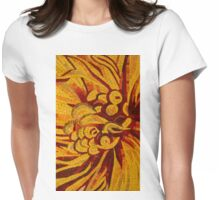 Imagination in Hot, Vivid Yellows Womens Fitted T-Shirt