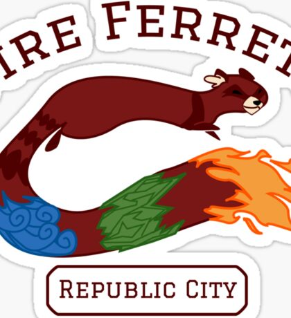 Republic City Fire Ferrets (Pro-bending) Sticker