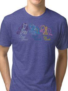 Rarity Rainbow Fluttershy Tri-blend T-Shirt