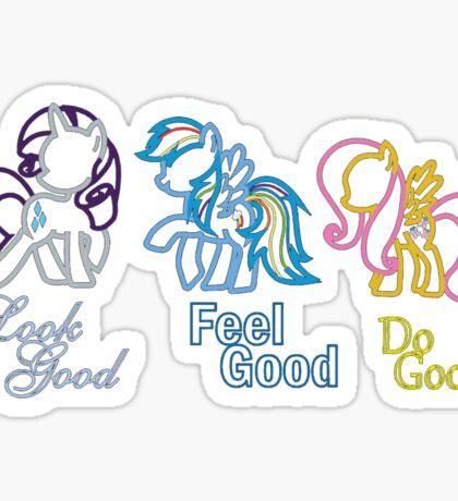 Rarity Rainbow Fluttershy Sticker