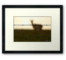 Fenced me in Framed Print