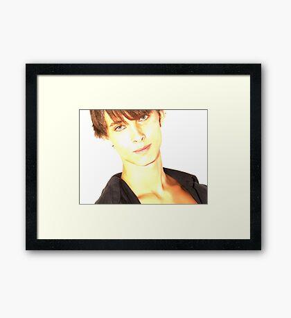 David - Lights Framed Print