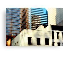 blue tower black windows Canvas Print