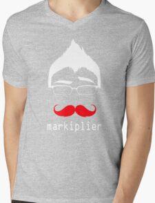 MARKIPLIER FACE Mens V-Neck T-Shirt