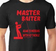 MASTER BAITER FUNNY RUDE TUMBLR FISHING Unisex T-Shirt
