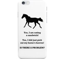 Horse People Humor iPhone & iPod Cases iPhone Case/Skin
