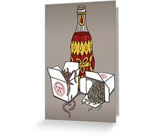 Santa Carla Takeaway Greeting Card