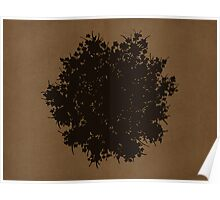 Queen Anne's Lace in Brown & Gray Poster