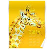 Giraffe on Yellow Poster Calendar Poster