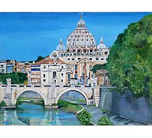 The view of the Vatican city Photographic Print