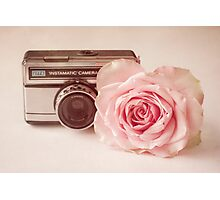 The Rose & The Camera  Photographic Print