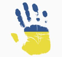 Flag Handprint - Ukraine by SkinnyJoe