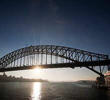 Sydney Harbour Bridge, Early Morning Rays by Richard  Windeyer